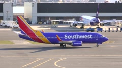 Southwest Airlines brand new colors Stock Footage