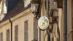 France notary sign in old street Stock Footage