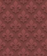 Marsala color perforated paper fleur-de-lis. Stock Illustration