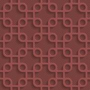 Marsala color perforated paper Stock Illustration