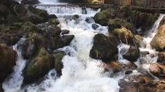 Triberg Waterfalls closeup 1 Stock Footage