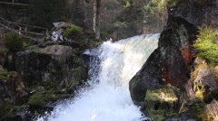 Triberg Waterfalls closeup 3 Stock Footage