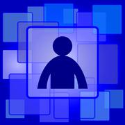 Stock Illustration of User profile icon. Internet button on abstract background..