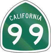 California State Route Shield Stock Illustration