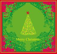 Abstract christmas tree card Stock Illustration