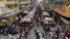 Top view on the street market. General plan view. Stock Footage