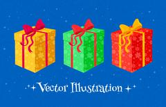 Collection of gift boxes Stock Illustration