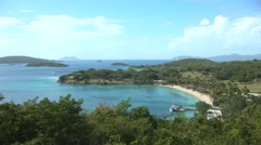 St John Island Channel View Stock Footage