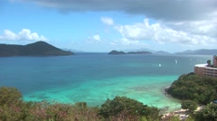 Stock Video Footage of View from Point Pleasant Resort St Thomas