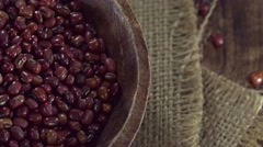 Portion of Red Beans (not loopable) Stock Footage