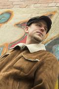 Cool Guy Graffiti - stock photo