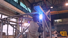 Welding and factory worker Stock Footage