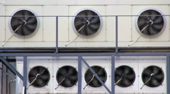 Chiller blowers Stock Footage
