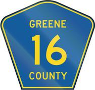 Stock Illustration of County Route Shield - Greene County