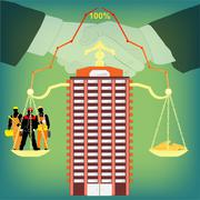 Partnership in business Stock Illustration