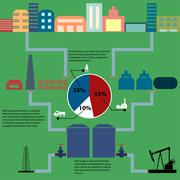 Stock Illustration of Gas production