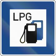 LPG Gas Station - stock illustration