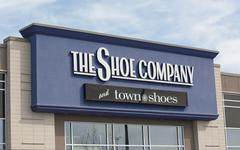 The Shoe Company And Town Shoes Retail Outlet. - stock photo