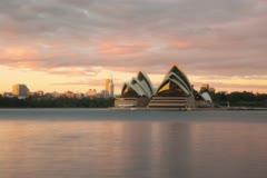 Sydney Opera House sunrise motion timelapse Stock Footage