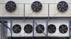 Air conditioners unit - stock footage