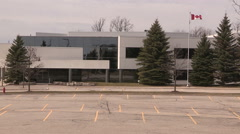 Empty abandoned BlackBerry buildings in Waterloo Ontario Canada Stock Footage