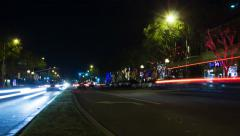 Night Traffic in West Hollywood (4K) Stock Footage