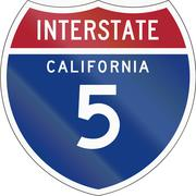 Interstate Route Shield - California Stock Illustration