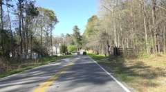 Car POV Driving Down Road In Macon Georgia 01 Stock Footage