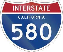 Interstate Route Shield - California - stock illustration
