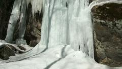 Small icefall in Algonquin Park, Canada Stock Footage