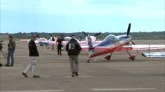 Aerobatic Pilots - stock footage