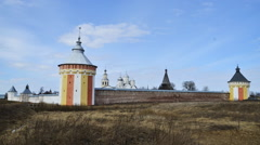 Spaso-Prilutskii Dimitriev monastery Stock Footage