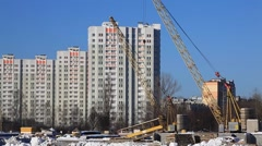 ZHELEZNODOROZNIY.RUSSIA - 2013: Construction of the new buildings Stock Footage