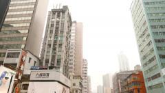Building thin like a match, Hong Kong city Stock Footage