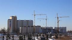 ZHELEZNODOROZNIY.RUSSIA - 2013: Construction of the new buildings Stock Footage