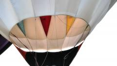 Detail of hot air ballon Stock Footage