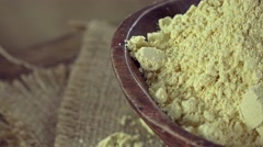 Soy Flour (seamless loopable) Stock Footage