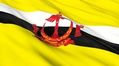 Brunei flag Seamless - stock footage