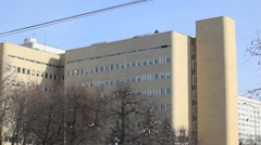 The building of the maternity hospital in Moscow, close up view Stock Footage