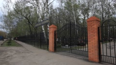 The main entrance of the cemetry in Russia - stock footage
