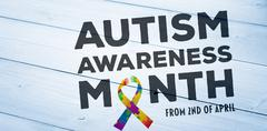 Stock Illustration of Composite image of autism awareness month