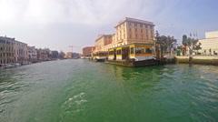Venice Canal Grande Vaporeto Boat ride Pov Stock Footage