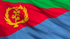 Eritrea flag Seamless Stock Footage