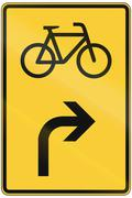 Direction Sign For Bicycles Stock Illustration