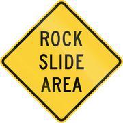 Rock Slide Area - stock illustration