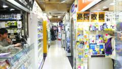 Bright interiors of phone and accessories shop Stock Footage