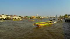 Chao Phraya river in evening light. Bangkok 2015. Speed up. - stock footage