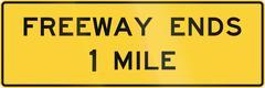 Freeway Ends Stock Illustration