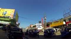 PUERTO PRINCESA - February 2015: Aeroplane above junction. Stock Footage