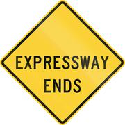 Expressway Ends - stock illustration